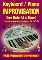 Keyboard / Piano Improvisation One note at a TIme - jpeg