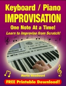 Learn Keyboard / Piano Improvisation One Note at a Time! - jpeg